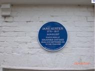 Placa en memoria de Jane Austen en StanfordCottage