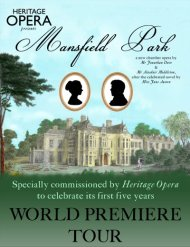 Nueva versión musical de MansfieldPark
