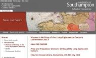 """Hasta el 14 de Enero de 2013: Presentación de Ponencias para el Congreso del 4-6 Julio de 2013: """"Orgullo y Prejuicios – Mujeres Escritoras en el s.XVIII"""""""