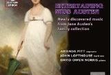 Partituras de Música de la familia Austen: CD y Proyecto de Investigación en la Universidad deSouthampton