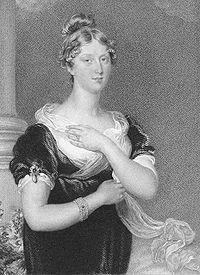 Carlota de Gales, de jovencita