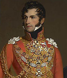 Leopoldo cuando se casó con la Princesa Carlota