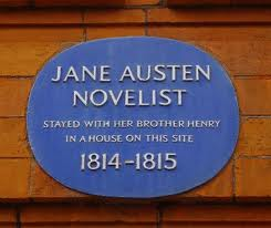 Detalle de la placa conmemorativa en Sloane St., Londres