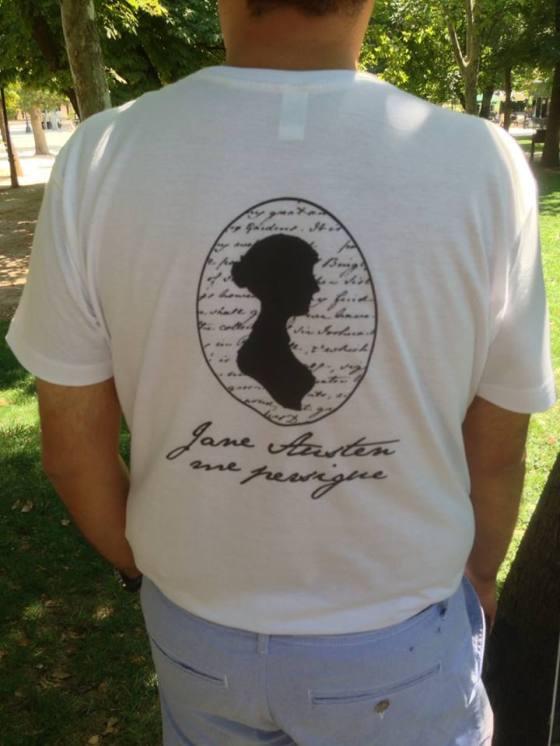 Camiseta caballero austeniano jane austen me persigue