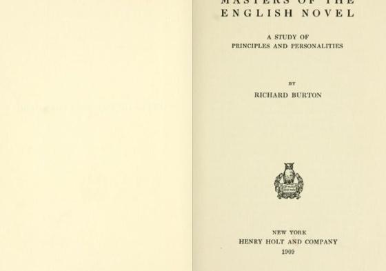 R.Burton Masters of the english novel