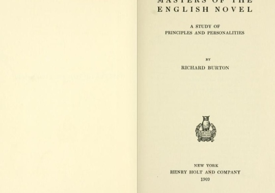 R.Burton Masters of the english novel