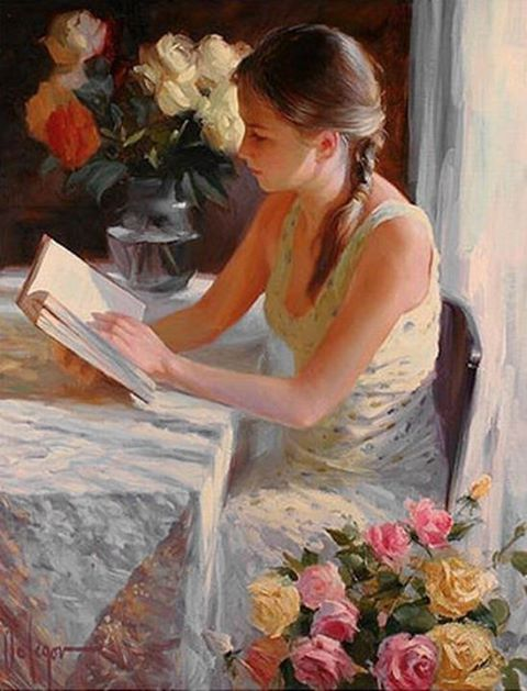 Chica leyendo JJGradin