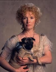 Lady Bertram (antes Maria Ward) y su perrito carlino.