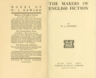 "Biografías Antiguas de Jane Austen: ""Los creadores de la ficción inglesa"" (The makers of English Fiction). William J. Dawson. 1905"