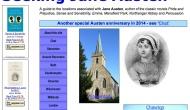 Buscando a Jane Austen. Seeking Jane Austen. Web con todos los lugares relacionados conJane.