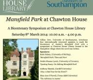 8 Marzo 2014: Simposium para celebrar Mansfield Park en ChawtonHouse