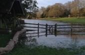 Chawton House casi inundada por las últimas lluvias torrenciales….