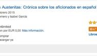 """""""Historia de los Austenitas en Español"""" número 1 en ventas en Amazon en Enciclopedias y Libros deConsulta"""
