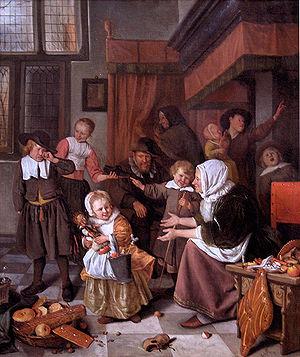 Fiesta de San Nicolás Jan_Steen.Het_Sint_Nicolaasfeest