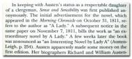 22 Diciembre 1815. Se anuncia la publicación de Emma en el MorningChronicle