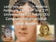 Por fin, confirmado: Mª Carmen Romero, administradora de El Sitio de Jane, también dará una ponencia en el  Congreso Internacional sobre Jane Austen el próximo mes de Febrero en elCEU.