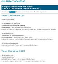¿Os habéis apuntado ya al Congreso Internacional de Jane Austen? Madrid, Febrero2016