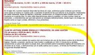 31 Marzo y 26 Abril 2016. Club de Lectura sobre Orgullo y Prejuicio en el Museo del Romanticismo,Madrid
