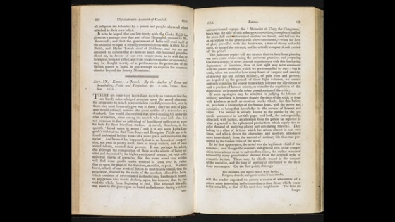 Recensión de Sir Walter Scott sobre Emma, en The Quarterly Review (British Library)