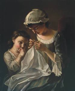 A Girl Sewing circa 1750 Philip Mercier ?1689-1760 Purchased 1965 http://www.tate.org.uk/art/work/T00759