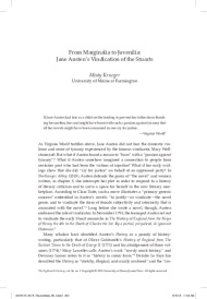 "Jane Austen Académica: ""From Marginalia to Juvenilia: Jane Austen's Vindication of the Stuarts"" de Misty Krueger"