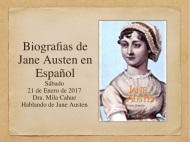 21 Enero 2017. Nos encontramos para hablar de las Biografías de JaneAusten