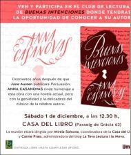 """1 Diciembre 2018: Nos encontramos en Barcelona, para la presentación de """"Buenas Intenciones"""", el nuevo libro de Anna Casanovas, homenaje a JaneAusten"""